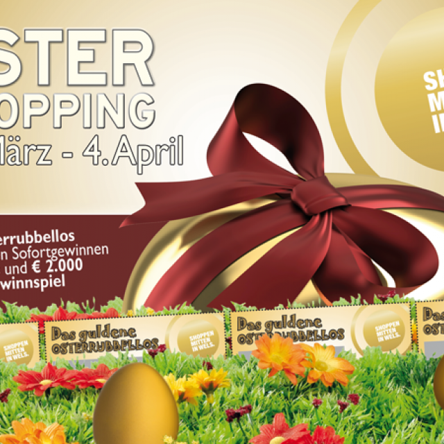Flyer Ostershopping in Wels